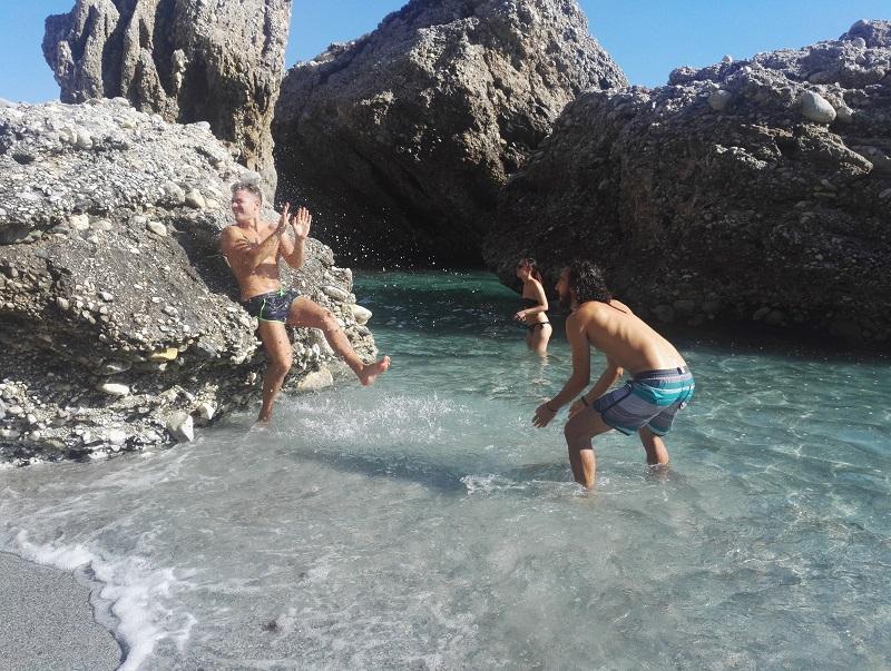 curso de español: playa de Nerja